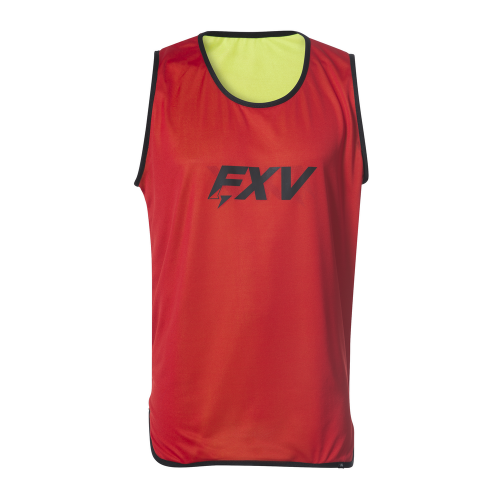 FXV CHASUBLE DE RUGBY REVERSIBLE Jaune / Rouge