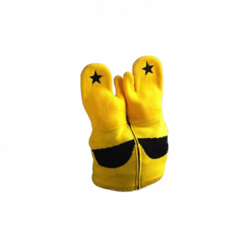 TUQUE MITAINE JAUNE LUNETTE SMILEY - SYNERGLACE