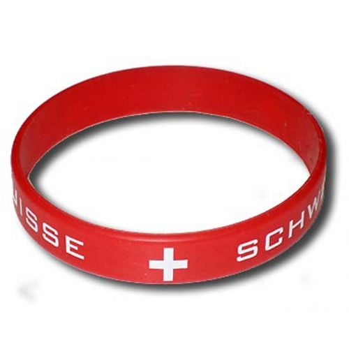 Bracelet silicone Rouge Suisse