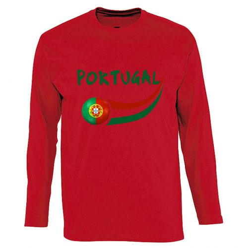 T-shirt manches longues Rouge Portugal