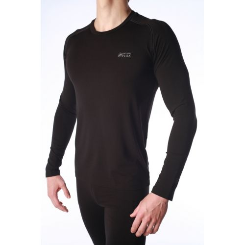 Base Layer Natural peak Homme WALKER SUPERWARM Noir coutures Blanches