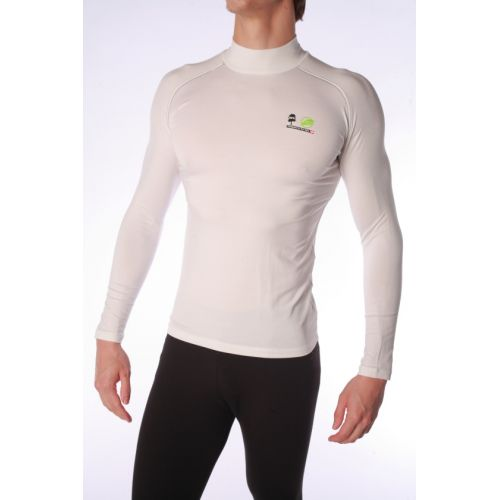 Base Layer Natural Peak unisexe Tournette Blanc coutures Rouges