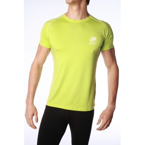 Tee-Shirt Natural Peak Homme Ecrin Vert Lime Punccoutures Blanches