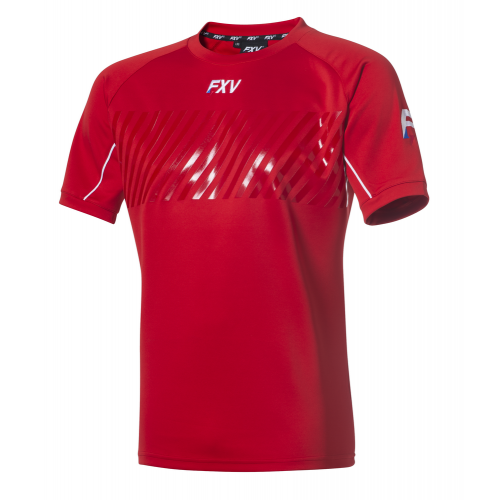 FXV MAILLOT DE RUGBY ENTRAINEMENT ACTION Rouge