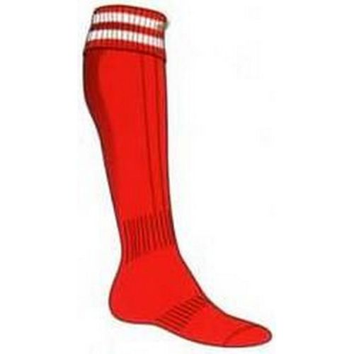 MADSPORT CHAUSSETTES OLYMPIQUE 2 BANDES ROUGE / BLANC