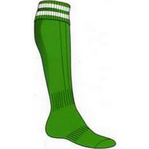MADSPORT CHAUSSETTES OLYMPIQUE 2 BANDES VERT/BLANC