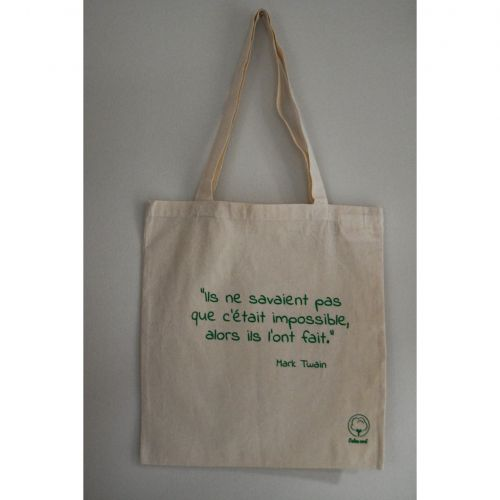 Tote bag Citation Mark Twain en coton BIO
