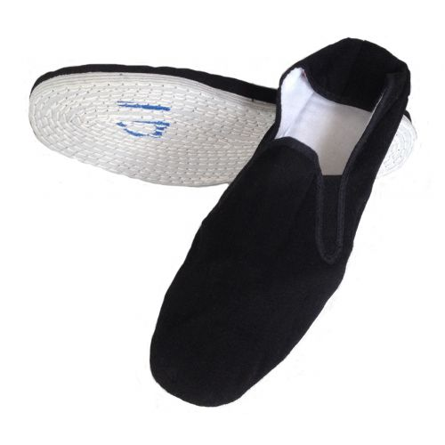 Chaussons toile Kung Fu noire METAL BOXE