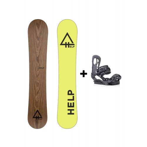 PACK Planche The Roots + fixations Drake SS Helpsnowboards
