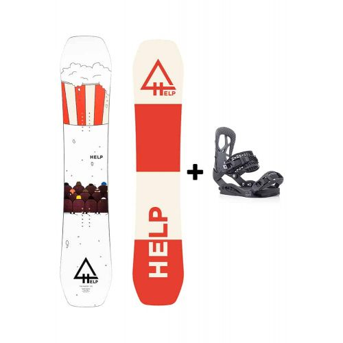 PACK Planche The Winter + fixations Drake Fifty Helpsnowboards