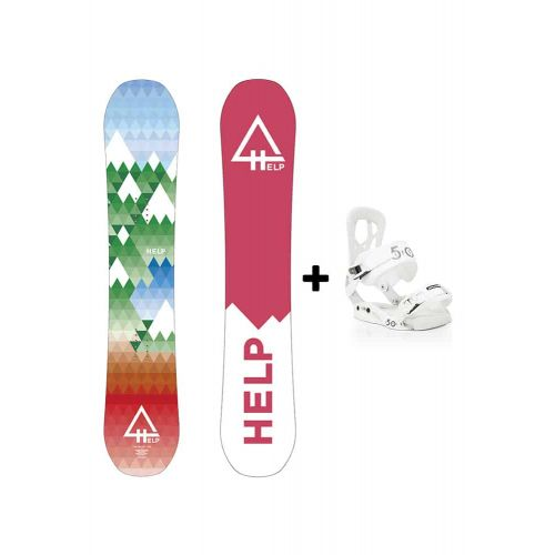 PACK Planche The Valley + fixations Drake Fifty Helpsnowboards