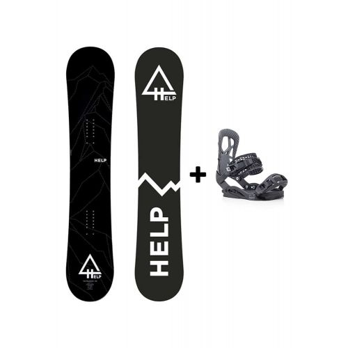 PACK Planche The Mountain + fixations Drake SS Helpsnowboards