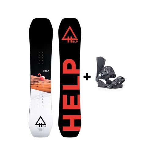 PACK Planche The Harmony + fixations Drake SS Helpsnowboards