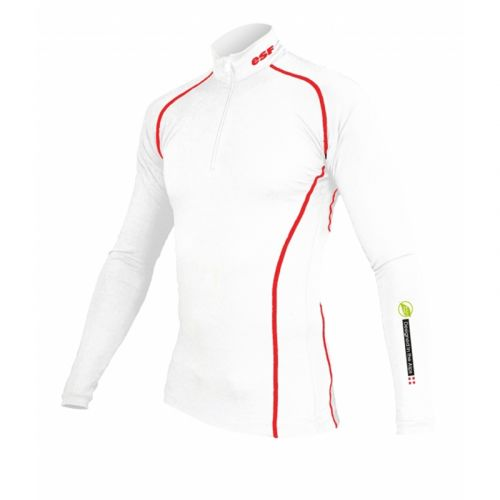 Base Layer « POINTE BLANCHE ESF » Homme Blanc/Rouge Natural Peak