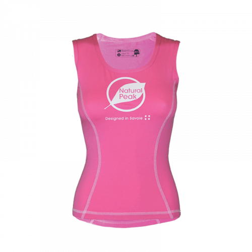 Débardeur « PACCALY Made in France» Femme Rose (XS - S - XL) Natural Peak